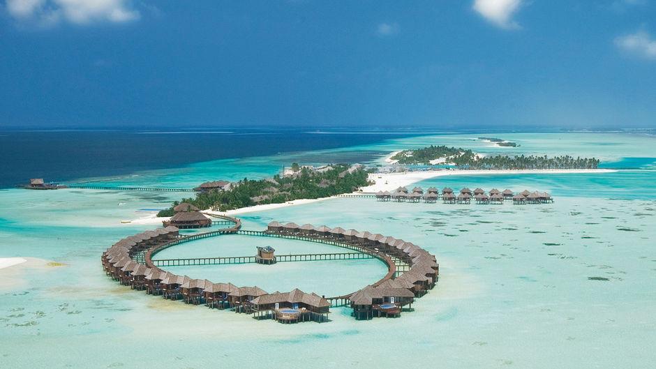 Один из отелей на Мальдивских островах