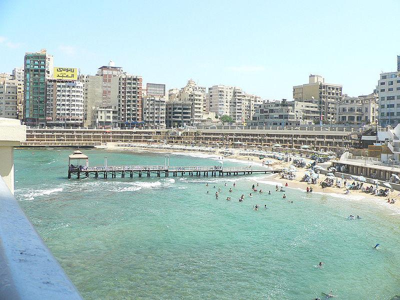 городской пляж в Александрии