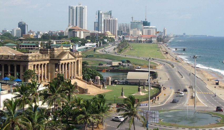 коломбо вид на город